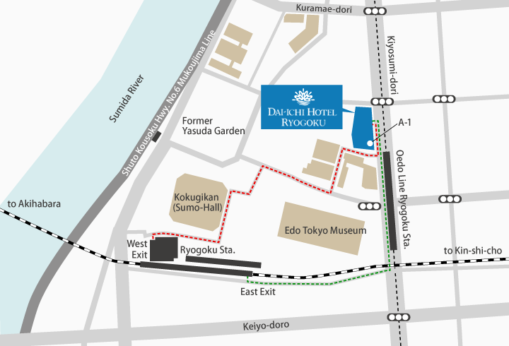 Access Map|Dai-Ichi Hotel Ryogoku